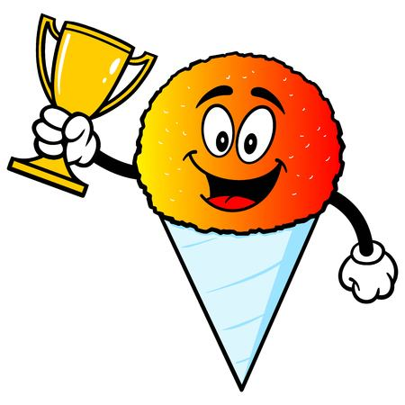 snow cone: Snow Cone with Trophy