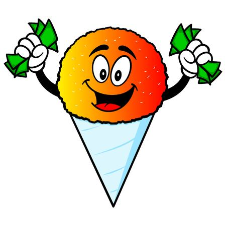 snow cone: Snow Cone with Money