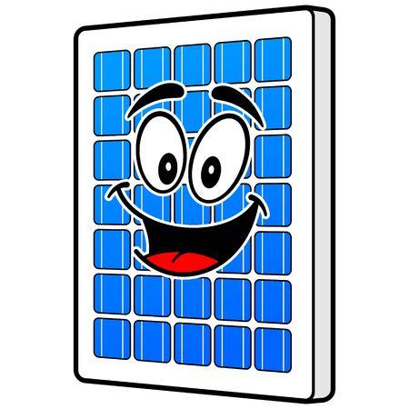 Solar Panel Mascot Çizim