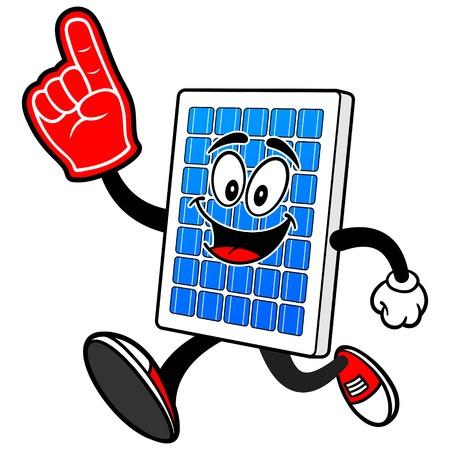 泡指で太陽電池パネル