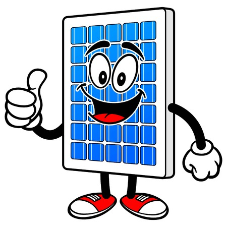 Solar Panel with Thumbs Up