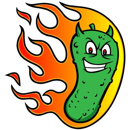 pickle: Spicy Pickle Illustration