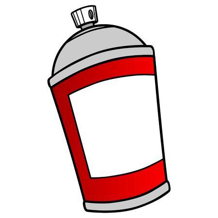 spray can: Spray Can Illustration