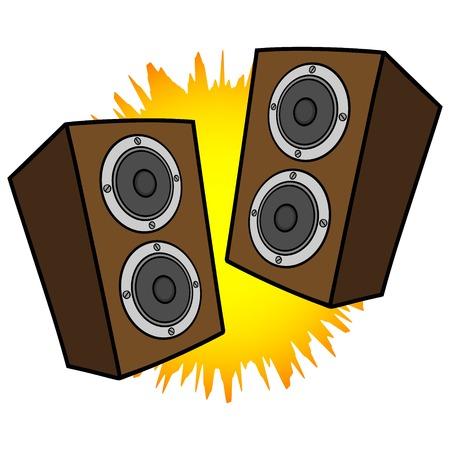 equipo de sonido: Altavoces est�reo