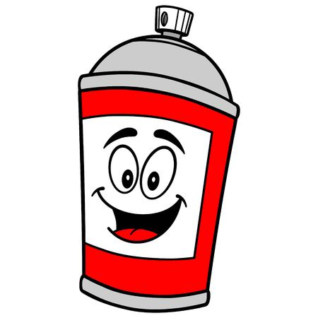 arts culture and entertainment: Spray Can Mascot