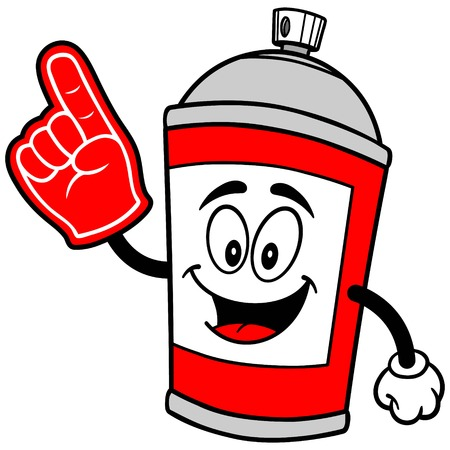 spray can: Spray Can with Foam Finger