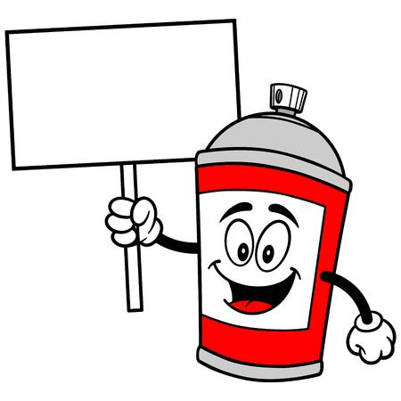 spray can: Spray Can with Sign