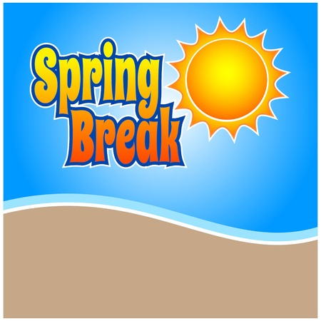 break: Spring Break Illustration