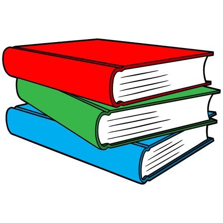 Pila de libros  Ilustración de vector