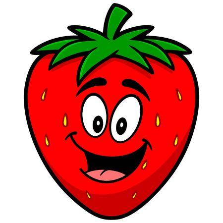 Erdbeere-Karikatur-Maskottchen