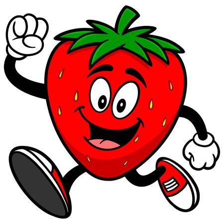 イチゴの実行  イラスト・ベクター素材