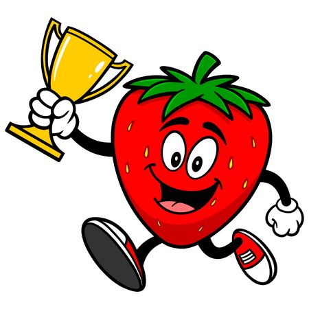 jogging in nature: Strawberry with Trophy