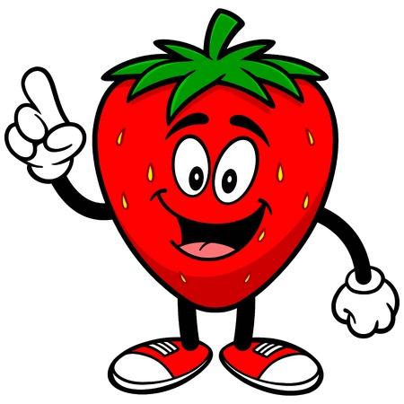talking: Strawberry Talking Illustration
