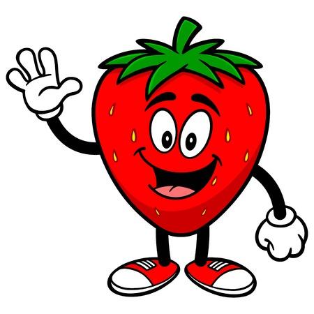 イチゴを振ってください。