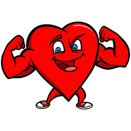 pumped: Strong Heart Character Illustration