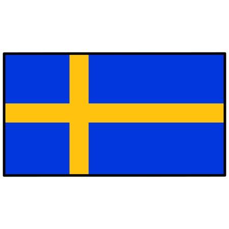 Sweden Flag Illusztráció