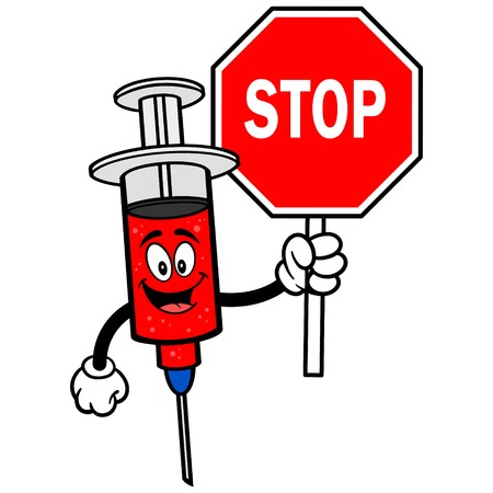Syringe with Stop Sign