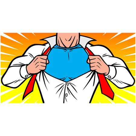Superhero Chest Vettoriali