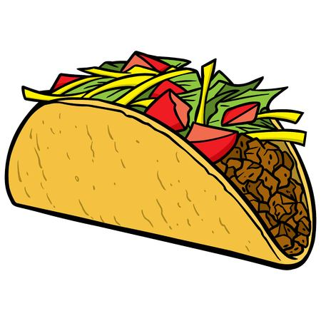 cartoon tomato: Taco Illustration