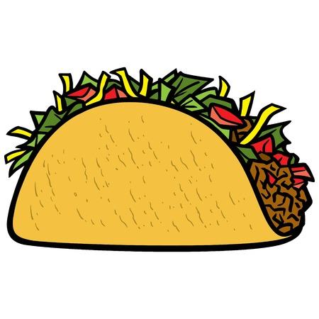 ground beef: Taco Icon Illustration