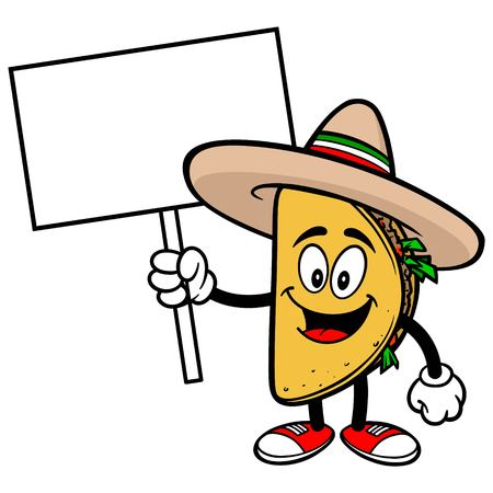 Taco with Sign