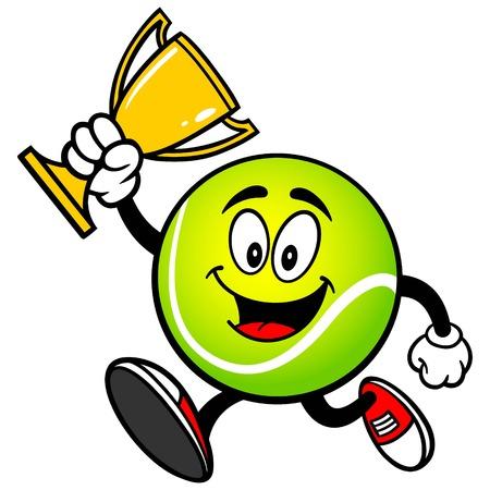 テニス ・ ボールのトロフィを実行します。