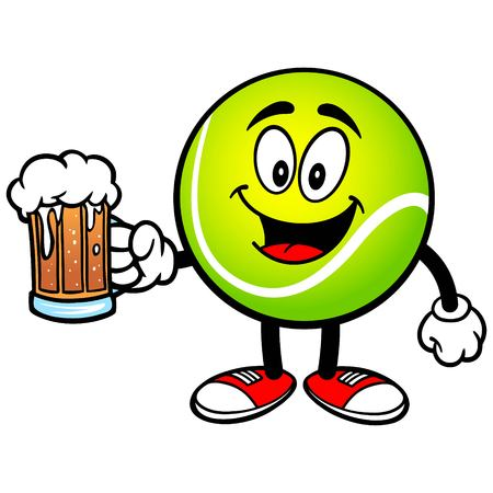 Tennis Ball with Beer