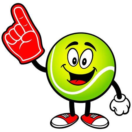 foam finger: Tennis Ball with Foam Finger