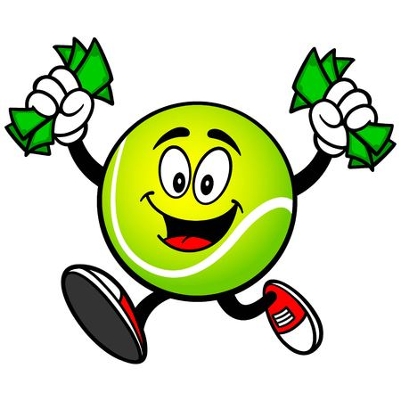 incomes: Tennis Ball with Money