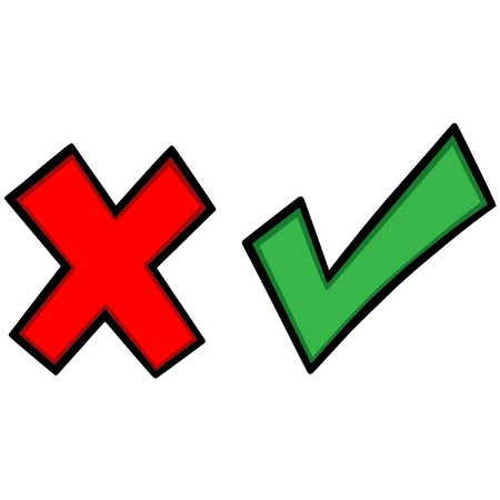 rejection: Tick Cross Icons