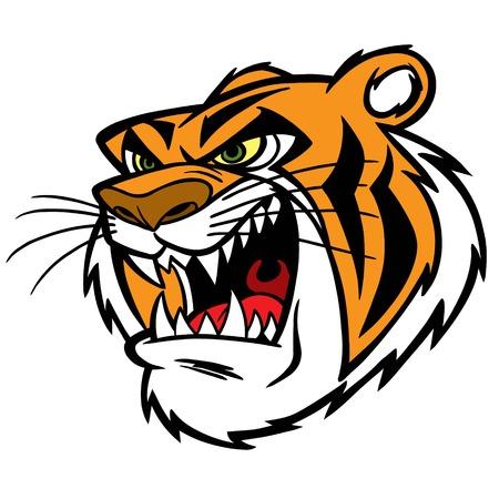growl: Tiger Growl Illustration