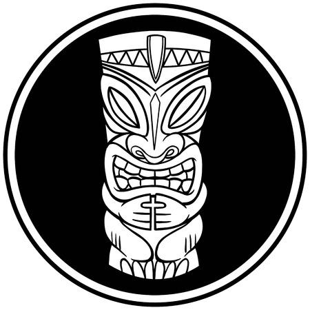 Tiki Ghost Symbol Иллюстрация