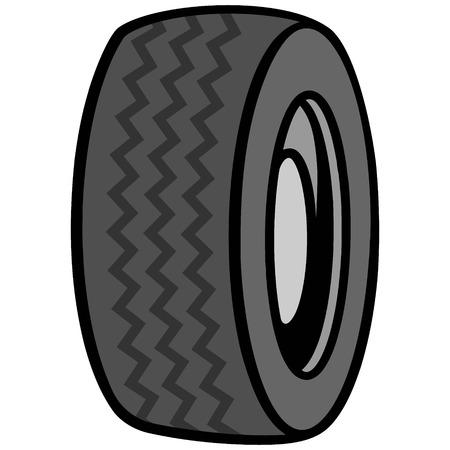 motoring: Tire Icon Illustration