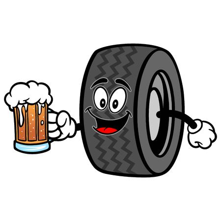 Tire with Beer