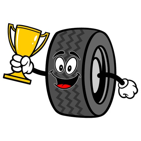 motoring: Tire with Trophy