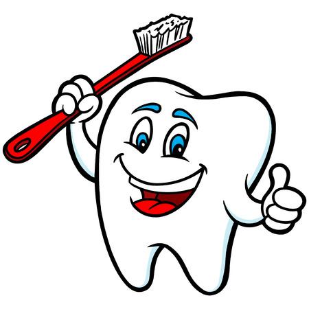 smile cartoon: Tooth Mascot
