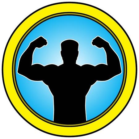 tough man: Tough Man Button