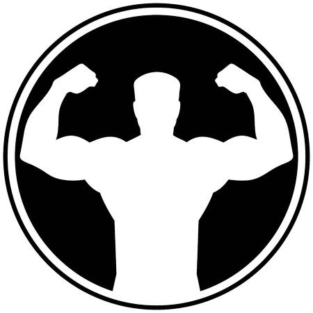 tough man: Tough Man Symbol Illustration