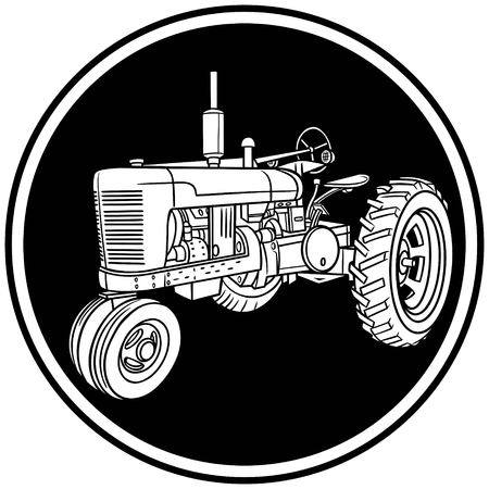 cartoon tractor: Tractor Symbol Illustration