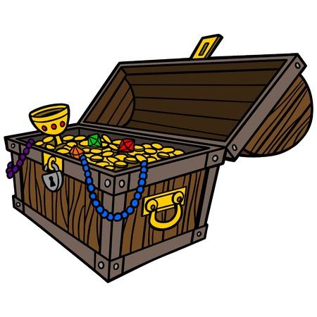 abundance: Treasure Chest Illustration
