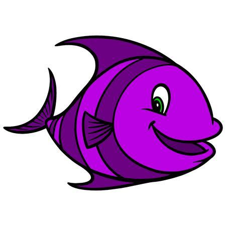 Tropical Fish Cartoon 版權商用圖片 - 57935848