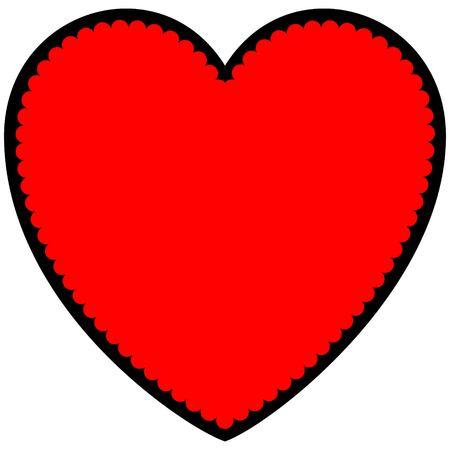 religious celebration: Valentine Sweet Heart Symbol Illustration