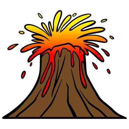 Explosión del volcán Foto de archivo - 57935932
