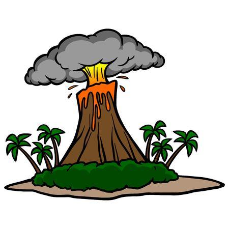 volcano mountain erupting: Volcano Island