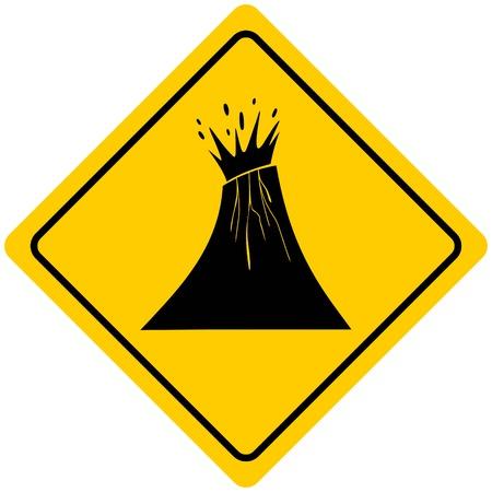 火山の警告サイン