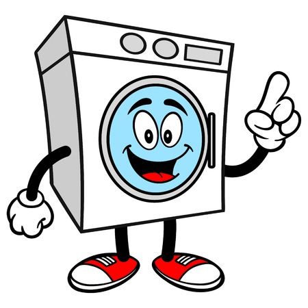 washer: Washer Talking Illustration