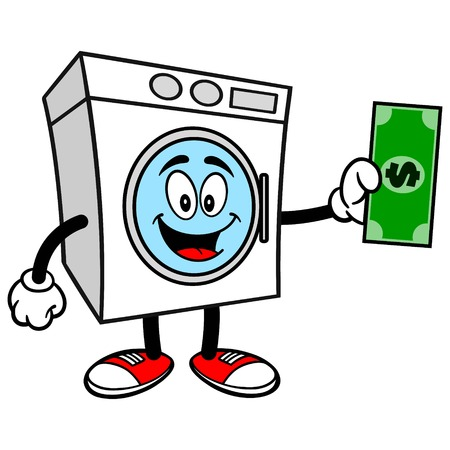 Washer with a Dollar Stock Illustratie