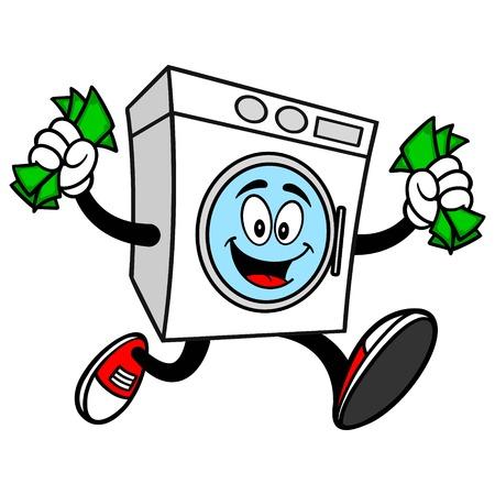 washer: Washer Running with Money