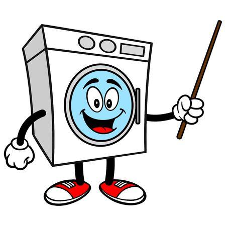 machine à laver: Rondelle avec un pointeur
