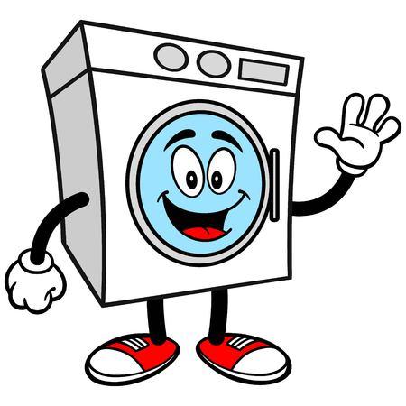washer: Washer Waving Illustration